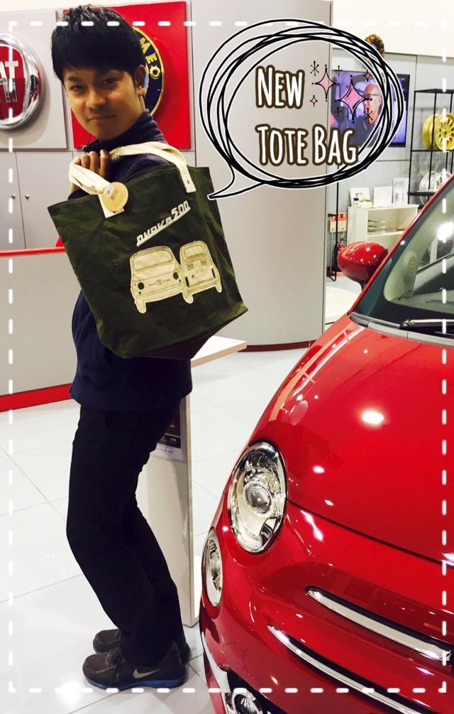 FIAT Nuova 500 Vintage ToteBag-1