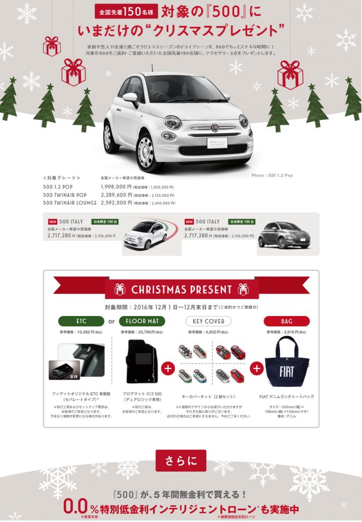 FIAT クリスマスプレゼント
